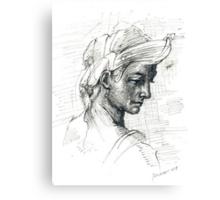 COPY OF MICHELANGELO DRAW Canvas Print