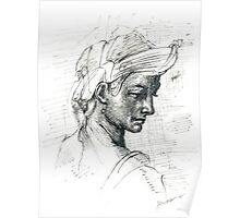 COPY OF MICHELANGELO DRAW Poster