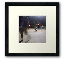 tobias n' a game of skate Framed Print