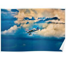 RC plane in storm clouds Poster