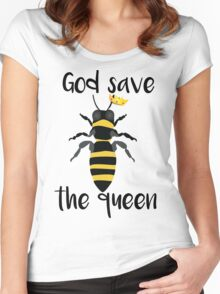 God Save the Queen Bees Women's Fitted Scoop T-Shirt
