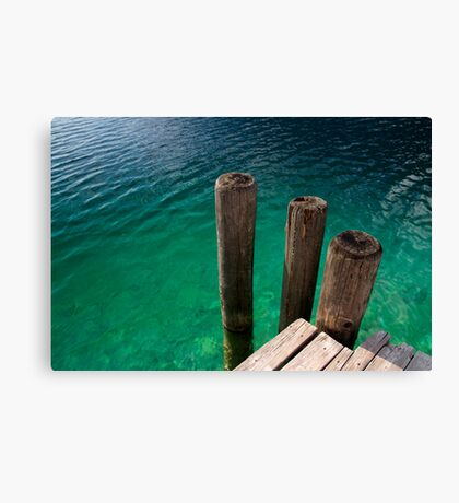 At the Pier Canvas Print