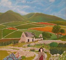 Rosie McCann Mourne Mountains scene by Michael McEvoy