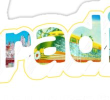 Postcard from On The Road! Sticker