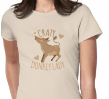 Crazy Donkey Lady Womens Fitted T-Shirt