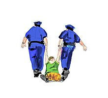 police arresting people Photographic Print