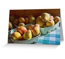 Pear Golden Greeting Card