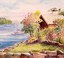 Garden Shed in New Castle by Barbara  Borsa