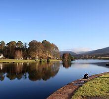 Gairlochy on the Caledonian Canal. by John Cameron