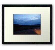 The Final Hour, on a dark highway....... Framed Print