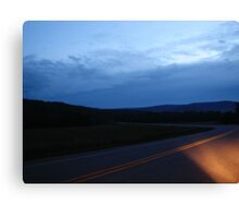 The Final Hour, on a dark highway....... Canvas Print