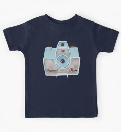 Vintage Camera - Blue Kids Tee