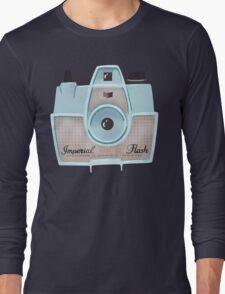 Vintage Camera - Blue Long Sleeve T-Shirt