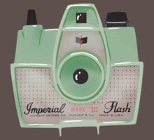 Vintage Camera - Mint Green One Piece - Short Sleeve