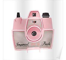 Vintage Camera - Pink Poster