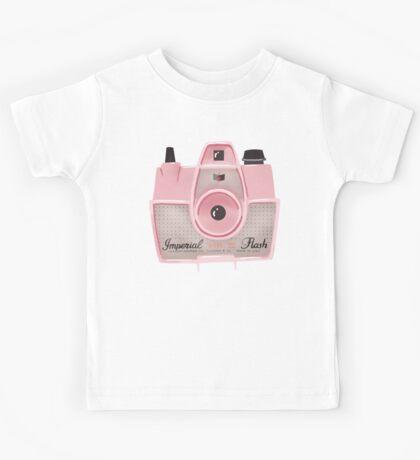 Vintage Camera - Pink Kids Tee