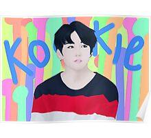 Jungkook - kookie (blue) Poster