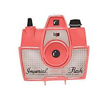 Vintage Camera - Red Photographic Print
