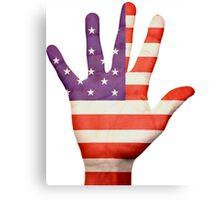 American Hand Flag Canvas Print