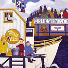 """Whale Watch"" greeting card by Dawn Peterson"