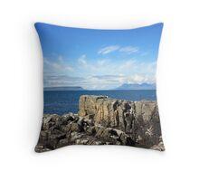 Isle of Eigg from Mallaig. Throw Pillow