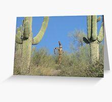 Death among the Giant Saguaros Greeting Card