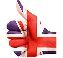 UK Flag hand Photographic Print