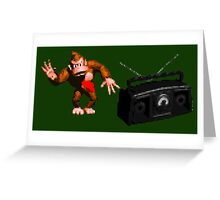 Donkey Kong Country - Rockin' Out Greeting Card