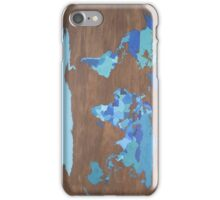 Blue Map iPhone Case/Skin