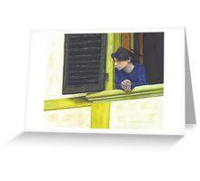 Wistful Woman Greeting Card