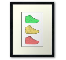 Freestyle Sneakers Framed Print