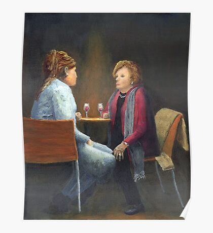 Two Women Talking Poster