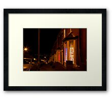 Christmastime at Stacey's house - Trinity Street, Barry Framed Print