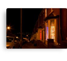 Christmastime at Stacey's house - Trinity Street, Barry Canvas Print