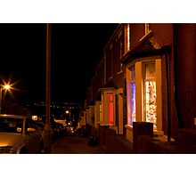 Christmastime at Stacey's house - Trinity Street, Barry Photographic Print