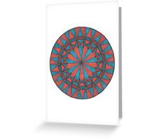 Blue and Orange Greeting Card