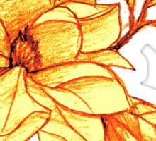 Sunset Flower  Sticker