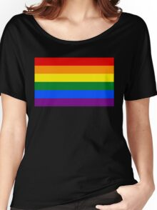 Rainbow flag Gay Homosexual Lesbian Women's Relaxed Fit T-Shirt