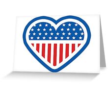 American Patriot Heart Greeting Card