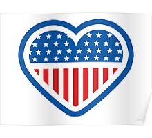 American Patriot Heart Poster