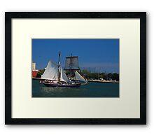 Tall ships in Toronto Framed Print