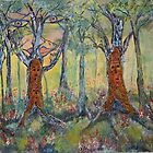 Nature's Dreaming of Spirit Trees Dancing by eoconnor