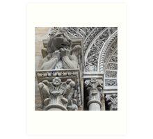 Gargoyle on St. John Nepomocene Church Art Print