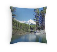Moose Lake near Jasper, Alberta, Canada Throw Pillow