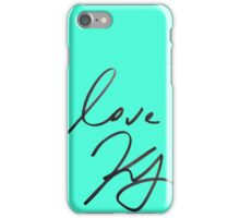 keegan allen's signature (teal) iPhone Case/Skin