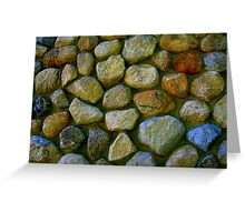Positive Stonework Building Greeting Card