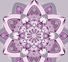 purple and grey mandala by resonanteye