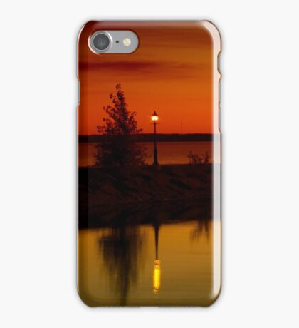 The Tree and the Lamp Post at Sunset - Aylmer Marina iPhone Case/Skin