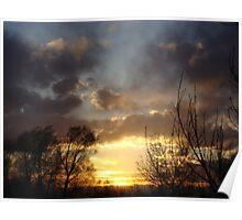 Sunset In Denver Colorado Poster