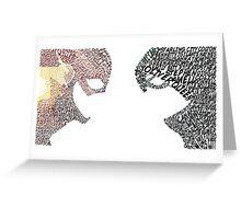 Minimalist Flash vs. Arrow Greeting Card